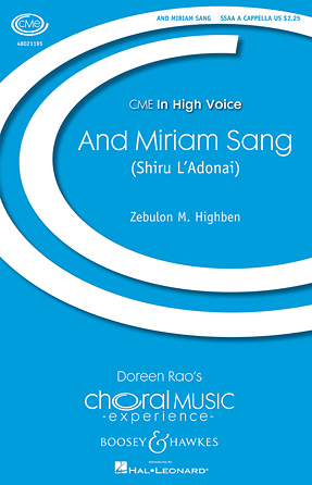 And Miriam Sang (Shiru L'Adonai) : SSAA : Zebulun M. Highben : Sheet Music : 48021195 : 884088627799