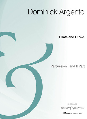 Product Cover for I Hate and I Love