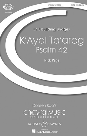 K'ayal Ta'arog (Psalm 42) : SATB : Nick Page : Sheet Music : 48022670 : 884088871154