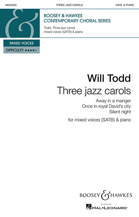 Three Jazz Carols : SATB : Will Todd : Sheet Music : 48023026 : 888680039745 : 0851629245