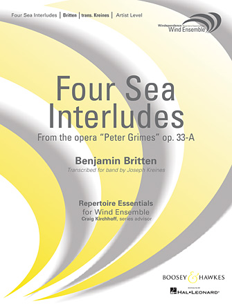 """Product Cover for Four Sea Interludes (from the opera """"Peter Grimes"""") - Conductor Score (Full Score)"""