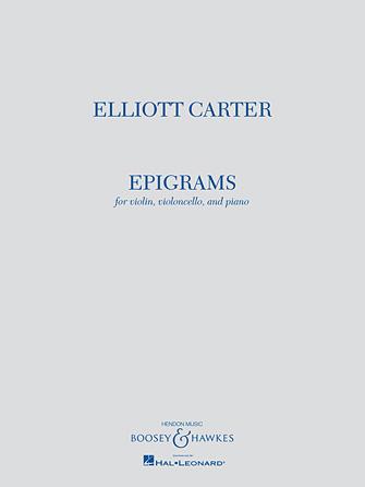 Product Cover for Elliott Carter – Epigrams