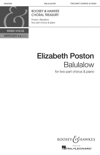 Balulalow : 2-Part : Elizabeth Poston : Elizabeth Poston : Sheet Music : 48023306 : 888680705183 : 1540000710