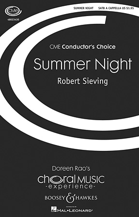Summer Night : SATB divisi : Robert Sieving : Robert Sieving : Sheet Music : 48023430 : 888680046118