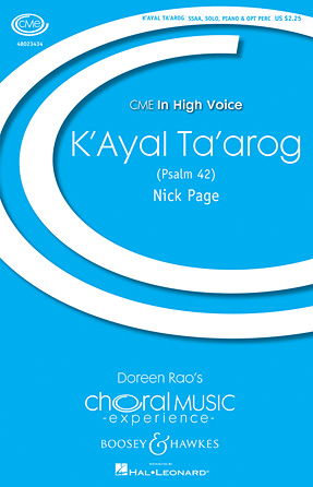 K'ayal Ta'arog : SSAA : Nick Page : Sheet Music : 48023434 : 888680046156