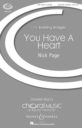 You Have A Heart : SATB : Nick Page : Sheet Music : 48023452 : 888680049430