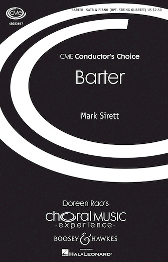 Barter : SATB : Mark Sirett : Mark Sirett : Sheet Music : 48023647 : 888680091248