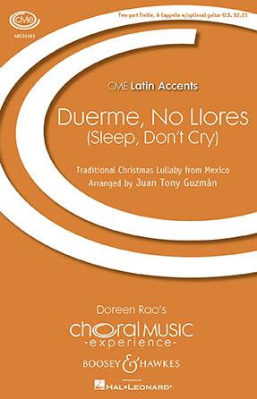 Duerme, No Llores : SA : Juan-Tony Guzman : Sheet Music : 48024161 : 888680702939