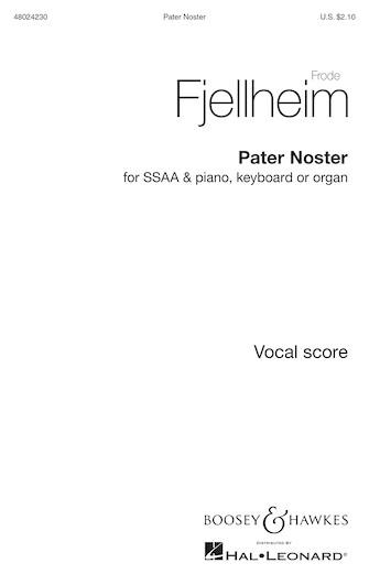 Pater Noster : SSAA : Frode Fjellheim : Frode Fjellheim : Sheet Music : 48024230 : 888680715908 : 1540012271