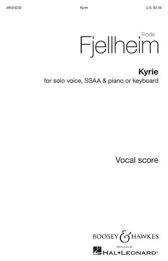 Kyrie : SSAA : Frode Fjellheim : Frode Fjellheim : Sheet Music : 48024232 : 888680715922 : 1540012298