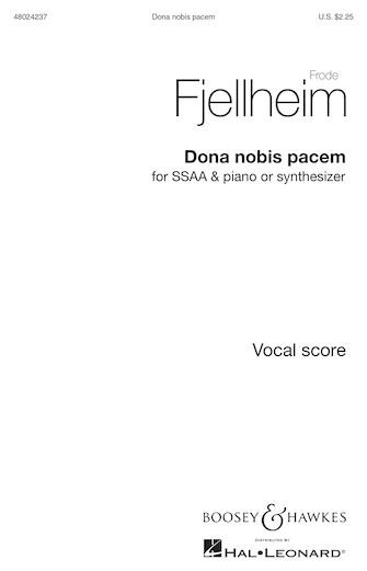 Dona Nobis Pacem : SSAA : Frode Fjellheim : Frode Fjellheim : Sheet Music : 48024237 : 888680716035 : 1540012352