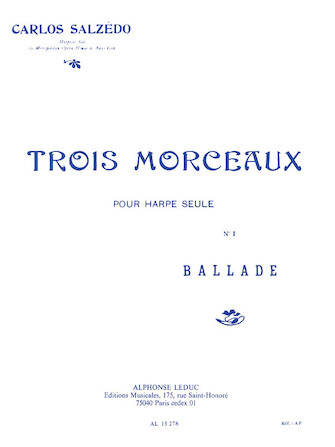 Product Cover for Trois Morceaux – No. 1 Ballade