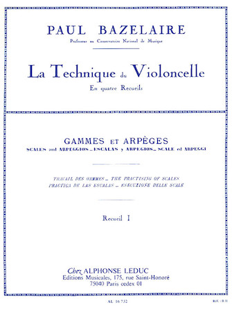 Product Cover for Cello Method – Scales And Arpeggios, Volume 1