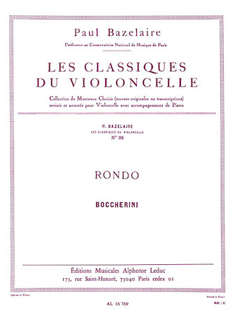 Product Cover for Rondo, for Cello and Piano