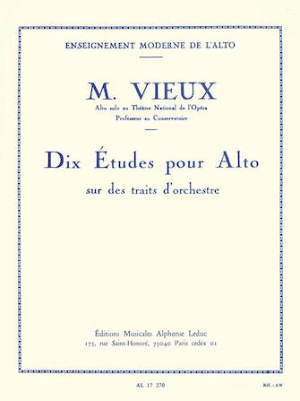 Product Cover for Dix Etudes pour Alto