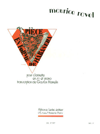 Product Cover for Piece en Forme de Habanera Clarinette Sib et Piano