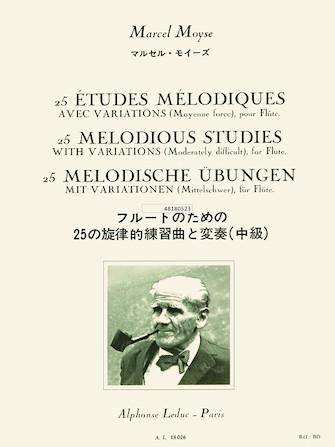Product Cover for 25 Etudes Melodiques Avec Variations pour Flute
