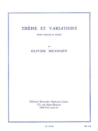 Product Cover for Theme et Variations pour Violon et Piano