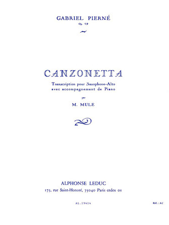 Product Cover for Canzonette, Op. 19