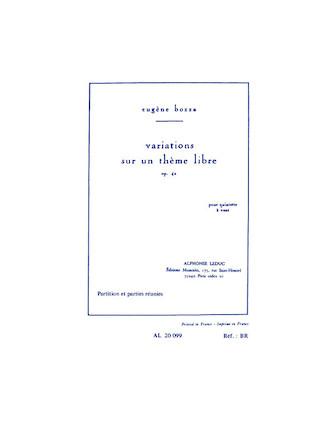 Variations sur un Theme Libre Op. 42
