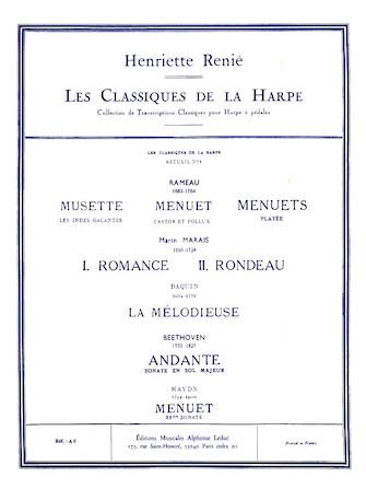 Product Cover for Les Classiques de la Harpe – Volume 1