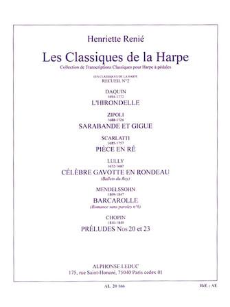 Product Cover for Les Classiques de la Harpe – Recueil No. 2