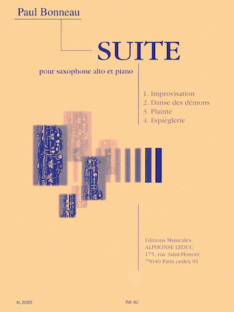 Product Cover for Suite for Alto Saxophone and Piano