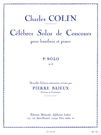 Product Cover for Celebres Solos de Concours – 1st Solo, No. 33