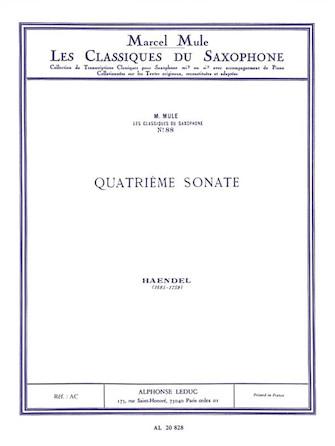 Product Cover for Sonata No.4 (classiques No.88) (saxophone-alto & Piano)