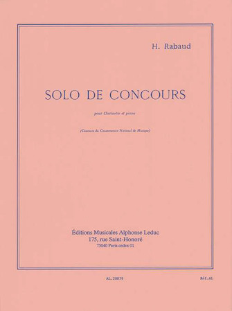 Product Cover for Solo De Concours Op10 Clarinette Et Piano