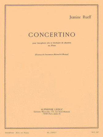 Product Cover for Concertino (alto Saxophone And Piano)