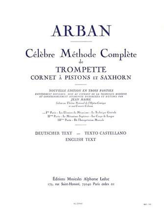 Product Cover for Jean-baptiste Arban - Celebre Methode Complete De Trompette, Cornet A Pistons Et Saxho