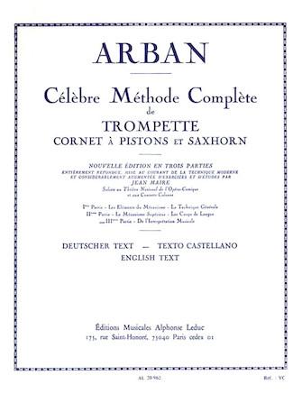 Product Cover for Celebre Methode Complete De Trompette Cornet A Pistons Et Saxhorn Vol 3 Arban