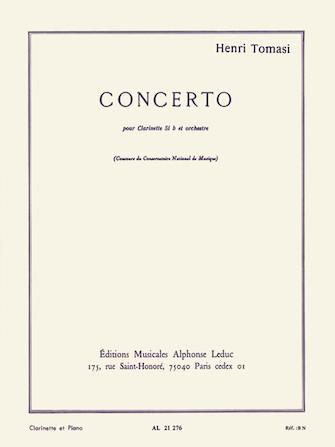 Product Cover for Henri Tomasi - Concerto Pour Clarinette En Si Bemol Et Orchestre A Cordes