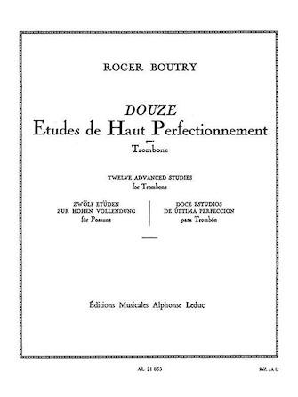 12 Etudes De Haut Perfectionnement (trombone Solo)