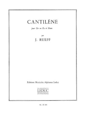Product Cover for Cantilene (horn & Piano)