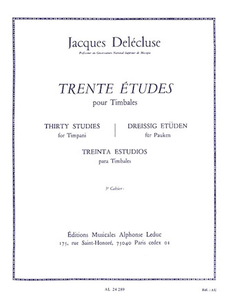 Product Cover for Trente Etudes Pour Timbales, 3<sup>e</sup> Cahier
