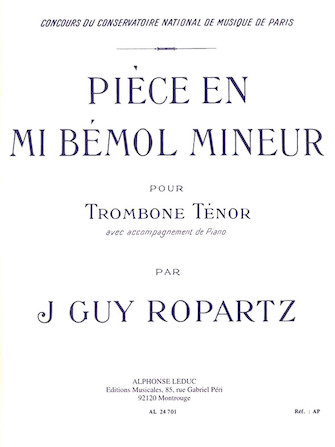 Piece In Eb Minor (bass Trombone, Piano)