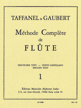 Product Cover for Paul Taffanel Et Philippe Gaubert - Methode Complete De Flute, Vol. 1