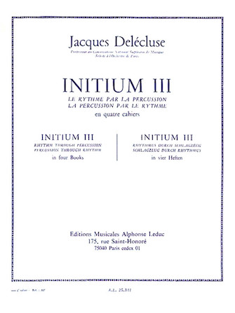 Product Cover for Initium Iii (volume 3) For Percussion