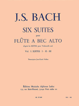 Product Cover for Six Suites - Vol. 1 (alto Recorder)