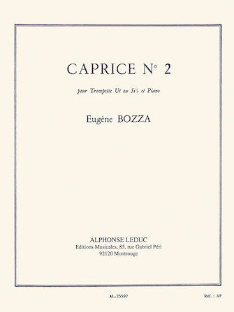 Product Cover for Caprice No. 2 For Trumpet And Piano