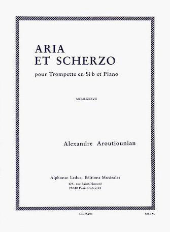 Product Cover for Alexandre Aroutiounian - Aria Et Scherzo Pour Trompette En Si Bemol Et Piano