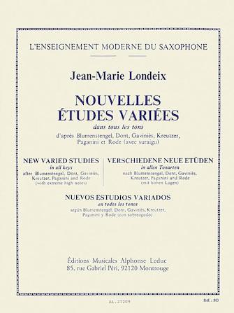 Product Cover for Jean-marie Londeix - Nouvelles Etudes Variees, Pour Saxophone