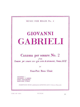 Product Cover for Canzona Per Sonare No. 2 for Four-Part Brass Choir