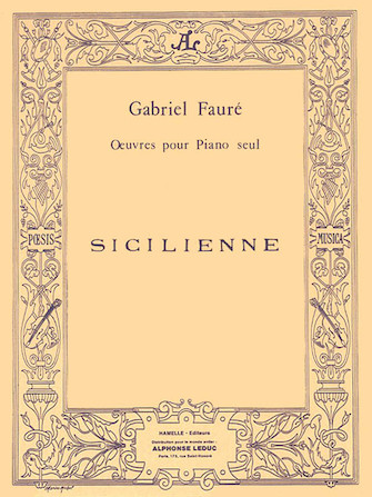Product Cover for Sicilienne Op.78 (piano Solo)