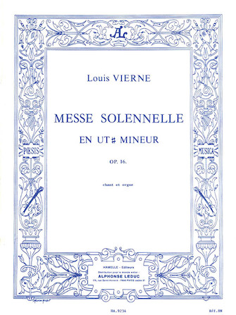 Messe Solennelle en ut Dièse Mineur pour chant et deux orgues