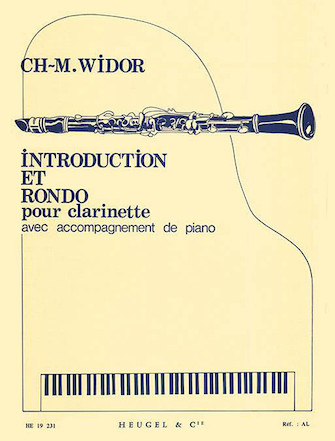 Product Cover for Charles-marie Widor - Introduction Et Rondo Pour Clarinette Avec Accompagnement De Pian