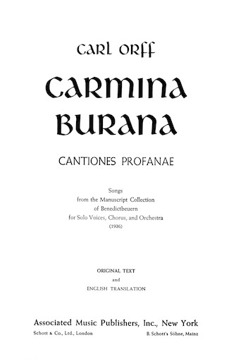 Product Cover for Carmina Burana