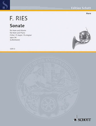 Product Cover for Sonata F Major Op. 34